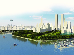 A green boulevard bigger than Mumbai's Marine Drive will form part of the new eastern waterfront, Gadkari said.