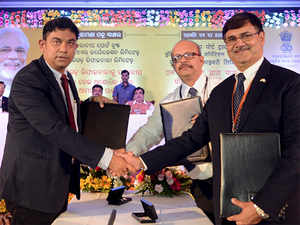 Numaligarh Refinery Limited signed an MoU with Paradip Port Trust and Indian Oil Corporation for import of crude oil at Paradip Port in Odisha in presence of Union Transport Minister Nitin Gadkari and Union Oil Minister Dharmendra Pradhan in Bhubaneswar on Sunday.