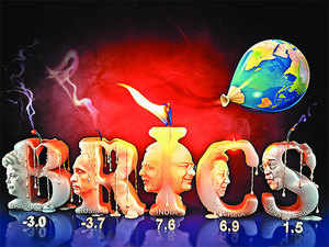 The BRICS nations include Brazil, Russia, India, China and South Africa.