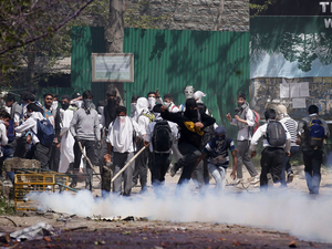 As many as 411 stone-pelting incidents have been reported in the Kashmir Valley from October 2016 to March 2017.