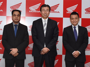 """""""Honda's vision is to build exponentially on our solid foundation. Our new business direction is to be leading India and the world,"""" said Minoru Kato."""
