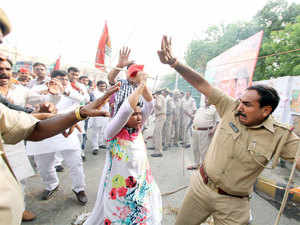 (Representative pic):   The MP, who was part of the march, and the SSP were among several people who suffered injuries in the stone-pelting from both sides, they said, adding some other policemen were also injured.