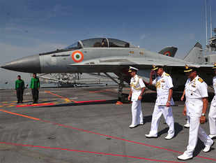 After decommissioning the INS Viraat earlier this year, the Indian Navy is down to a single carrier, INS Vikramaditya.