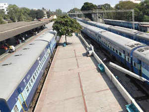 At the Cantonment station, the railways will provide the 2.25 acres with an indicative cost of Rs 80 crore.  In Pic:  Bengaluru Cantonment Station