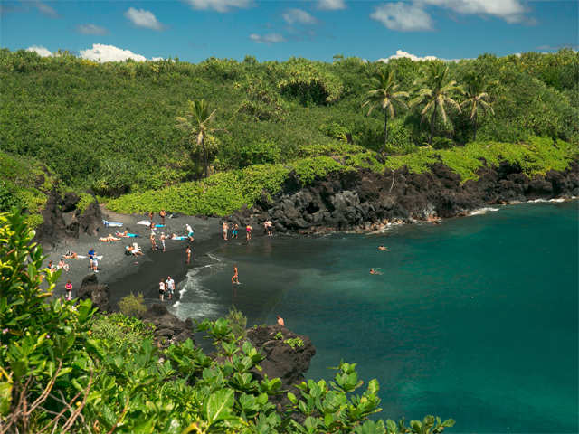 Embark on a tropical vacation and visit the Maui island in Hawaii