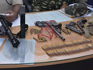 Police and Assam Rifles personnel jointly raided the house following specific information in the small hours today.