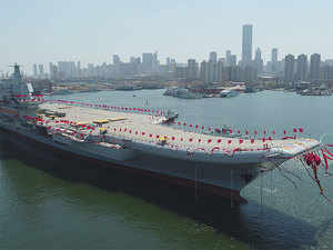 China launched the 50,000-tonne new aircraft carrier on Wednesday from the Dalian shipyard of the China Shipbuilding Industry Corporation