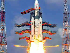 If successful, it would be India's first launch vehicle qualified for human space flight. In pic: GSLV with a dummy cryogenic engine. Full GSLV Mark III will be assembled after a GSLV II flight in May.