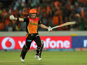 The Hyderabad skipper was on song from ball one and at one stage looked all set to get 150 or more.