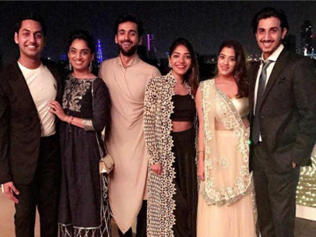 From left) Keshav and Veena Reddy, Jai Hiranandani, Avanti Goenka, Marushka and Rohan Seolekar.