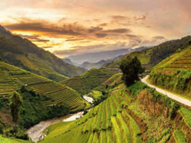 Sapa, a laid-back highland town in Vietnam, is truly a gift for photographers, campers and trekkers. Here, tourists can capture majestic mountain peaks and rice terraces. What's more, Sapa offers hillside treks that pass through charming villages and verdant landscapes.
