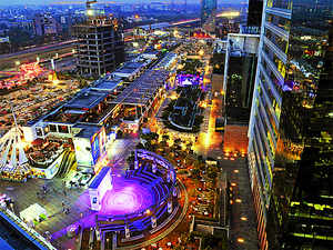 The sprawling Cyber Hub, spread over 2 lakh square feet and located in the heart of Gurgaon's corporate nerve centre Cyber City, has close to 50 restaurant and about 34 bars and pubs.