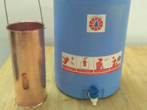 At Rs 1,500, the copper-based device will be sold along with a 15-litre water container to which it is optimized.