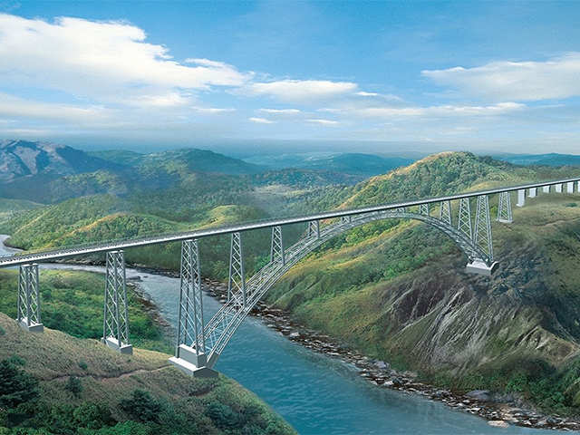 Chenab River Worlds Highest Railway Bridge To Come Up Over - Highest river in the world