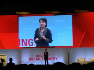 Catz says that Oracle founder Larry Ellison wants to ensure that the company benefits from being enormous, as well as from the opportunities presented by startups.