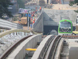 The remaining 6.141 km stretch from Hosa Road station to Bommasandra, which is a separate contract, is estimated at Rs 485.52 crore and will have five stations.  Representative Image.