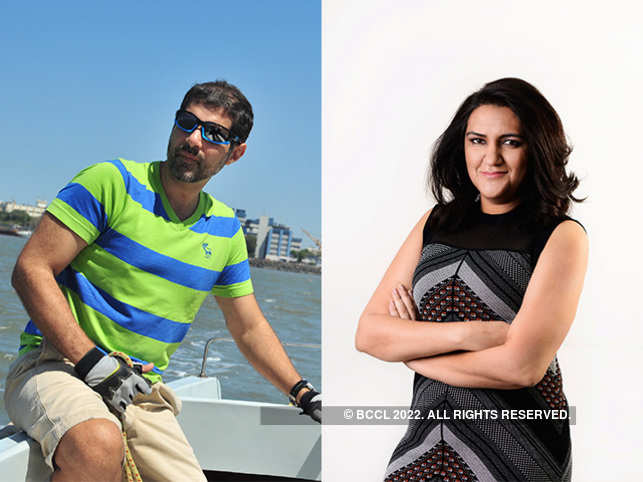 Ashish Hemrajani,CEO, BookMyShow (left) and Radhika Aggarwal, co-founder, Shopclues (right).