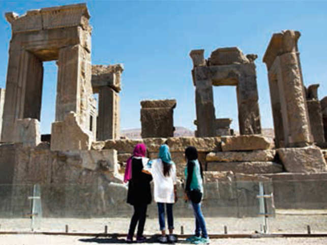 The imposing remains of Persepolis is also known as Takht-e-Jamshid