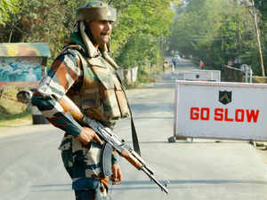 """Pakistani Rangers fired few bullets warning troops working ahead of the fence in Arnia area in Jammu. Our troops retaliated with few rounds of fire this morning"", a senior BSF officer said."