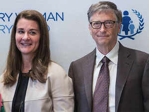 In 2015, Bill and Melinda Gates were awarded the Padma Bhushan for their work in India. Gates maintains that healthcare and education are the paths out of poverty.  In Pic: Melinda & Bill Gates