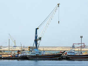 Not far from Chabahar in Iran, the Pakistanis are developing the Gwadar port with Chinese assistance as a gateway to Afghanistan and Central Asia.  In Pic: A partial view of the Kalantari port in Chabahar