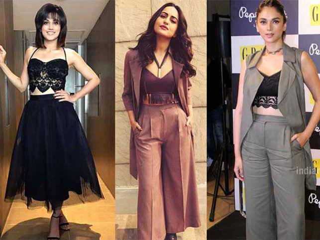 Bollywood is catching up with the trend, and styling it in so many different ways.