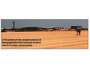 """""""I have requested civil aviation secretary (RN Choubey) when he was in Bengaluru recently for speedy approvals for the second runway project. We hope to get it soon,"""" Deshpande said."""