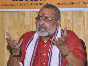 In April, Giriraj said that people who are accused in the Babri Masjid demolition case are innocent in the eyes of the people.
