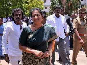 Sasikala Pushpa, who was expelled from the AIADMK in August last year, had earlier alleged she was slapped by a party leader in Chennai and was facing death threats.