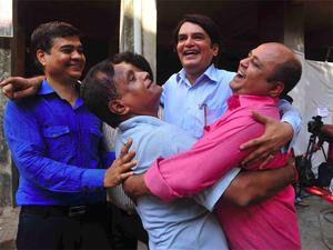 Jadhav's childhood friends celebrate after the ICJ verdict.