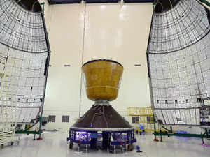 GSLV-Mark III-D1 is a three-stage vehicle with two solid motor strap-on boosters, a liquid propellant core stage and a cryogenic upper stage. When the two solid motors burn it can cause huge sound and to prevent that an Acoustic suppression system will be in place.