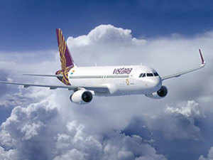 The aircraft also carriers the Vistara and Airbus A320neo logos on the underbelly of the aircraft, a first for Vistara.