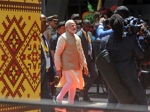 Prime Minister Modi at the opening ceremony of 52nd African Development Bank's annual meeting in Gandhinagar.