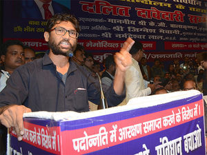 """""""There are some five FIRs against me. Registration of offence against an activist is always a convenient ground on the part of the state machinery to malign him or her,""""  Jignesh Mevani said."""