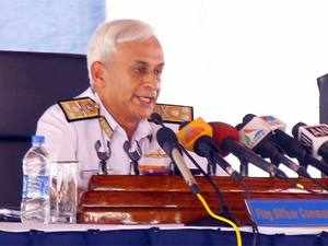 Sunil Lanba said ships from the eastern fleet were in Singapore and they carried out an exercise with the Singapore Navy in the South China Sea.