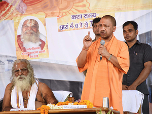 CM Yogi Adityanath visited Ayodhya on Wednesday and asked for the starting of an aarti ceremony every evening alongside the Saryu river in Ayodhya, just like in Varanasi.