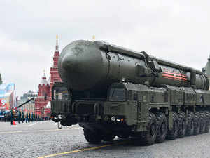 The arrangement to waive the BG clause was made by accepting a sovereign guarantee from Russia for the project.  In pic: Russian Yars RS-24 intercontinental ballistic missile system.