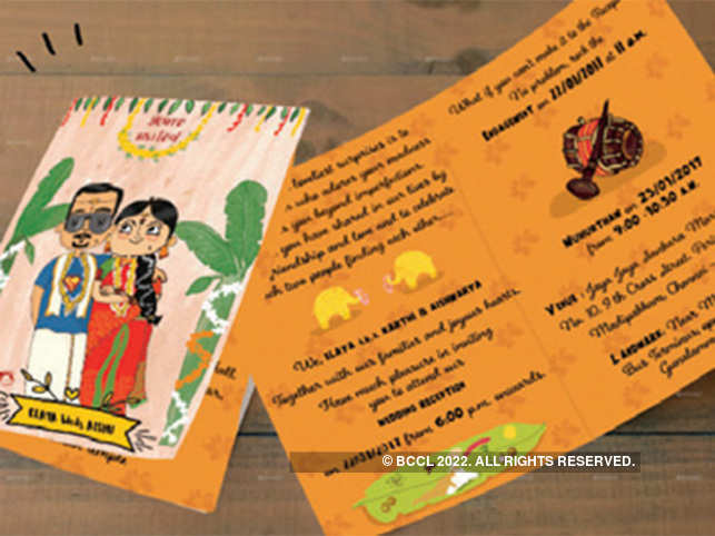 Loud colours, staid wordings and conventional Ganesha logos are making way for creative caricatures, doodles and funky fonts.