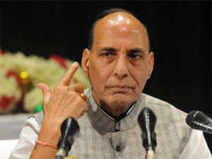 Hundreds of people on Monday took part in a beef party here to coincide with Union Home Minister Rajnath Singh's visit as a mark of protest against new rules restricting the sale of cattle for slaughter.