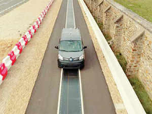 The 'DEVC' (dynamic electric vehicle charging) tech could charge two vehicles on the same track embedded with the charging tech at up to 20kW while moving at high speed.