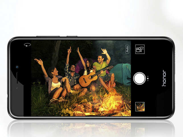 The front camera offers various settings to help you capture the perfect selfie.
