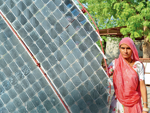 In Pic: Sheetal Devi has started an enterprise that manufactures parabolic solar cookers