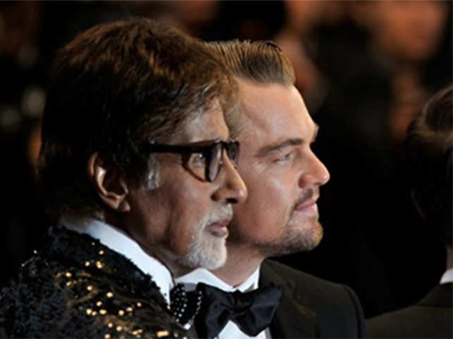 Bachchan (left) recently posted a throwback picture with DiCaprio (right).