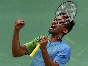 World No.22 Srikanth, who had reached the finals at Singapore Open in April, outclassed Japanese qualifier Kazumasa Sakai 21-11 21-19 in just 37 minutes in the final.