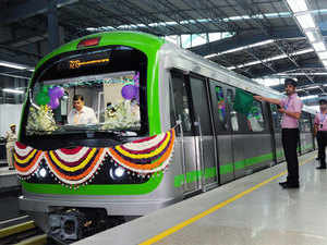 For the first time, BMRC operated trains in short loops between Majestic and Baiyappanahalli on Monday morning to clear the peak-hour rush.