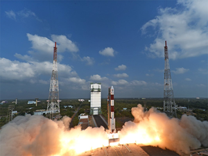 PSLV-C38 will be launched from the First Launch Pad of the Satish Dhawan Space Centre. ( In Pic-- PSLV-C37)