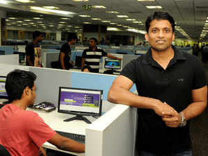 This eight-member gang has shaped the single-man brand into a force to reckon with in India's nascent edtech space.  In pic:  Byju Raveendran