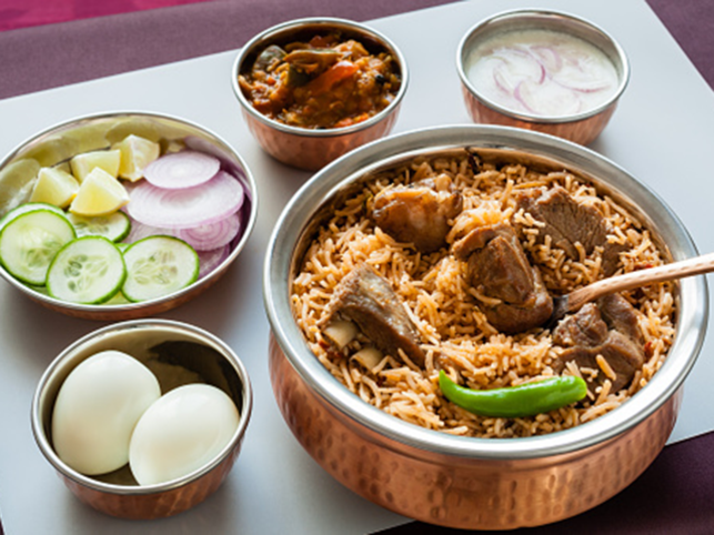 After entering India, the biryani changed herself, according to the regional availability of spices and local taste, and has had a glorious existence in many avatars.