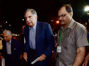 Amitabh Bachchan, singer Lata Mangeshkar as also industry doyen Ratan Tata  (in pic) were in attendance at the launch of the Goods and Services Tax (GST).