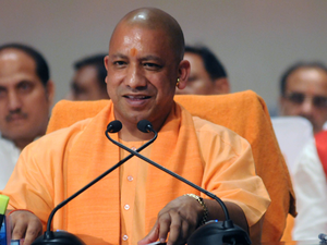"""Adityanath reiterated that the """"rule of law will prevail in Uttar Pradesh"""" and added that the state will be freed from crime, corruption and caste system."""